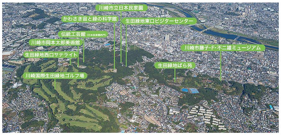 生田緑地周辺